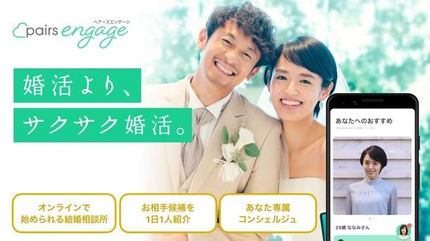 アプリ内活動のオンライン結婚相談所
