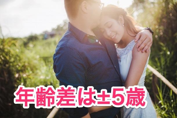 成婚者の年齢差はどのぐらい?